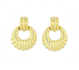 David Morris Door Knocker Earrings in 18K