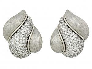 Henry Dunay 'Sabi' Diamond Earrings in Platinum