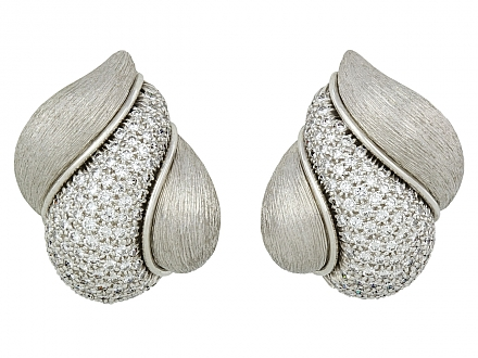 Henry Dunay 'Sabi' Diamond Earrings in Platinum