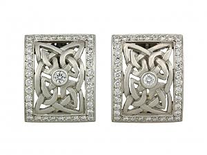 Kieselstein-Cord Diamond Earrings in Platinum