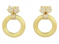 Cartier Door Knocker Hoop Earrings in 18K Gold
