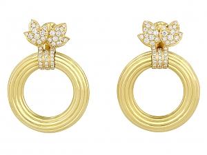 Cartier Door Knocker Hoop Earrings in 18K Gold