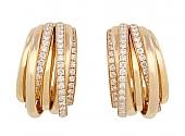 De Grisogono Diamond Hoop Earrings in 18K