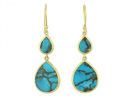 Ippolita Turquoise Earrings in 18K