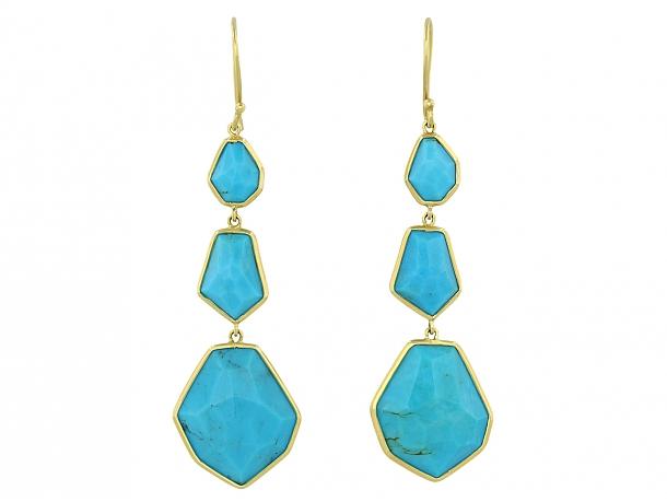 Ippolita Turquoise Earrings in 18K Gold