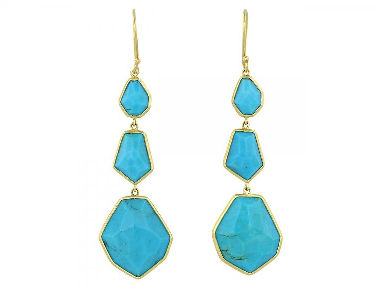 Video of Ippolita Turquoise Earrings in 18K Gold