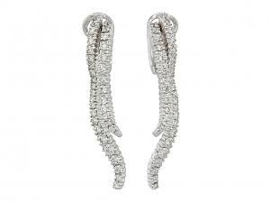 Damiani Diamond Earrings in 18K White Gold