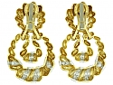 Wander France Diamond Door Knocker Earrings in 18K