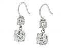 Beladora 'Bespoke' Two Stone Diamond Dangle Earrings in Platinum