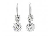 Beladora 'Bespoke' Old-cut Diamond Earrings in Platinum
