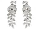 Beladora 'Bespoke' Diamond 'Vine' Earrings in 18K White Gold