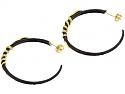 Arman 'Golden Serpent' Hoop Earrings in Silver and 22K Gold