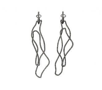 Brown Diamond Earrings in 18K Blackened Gold