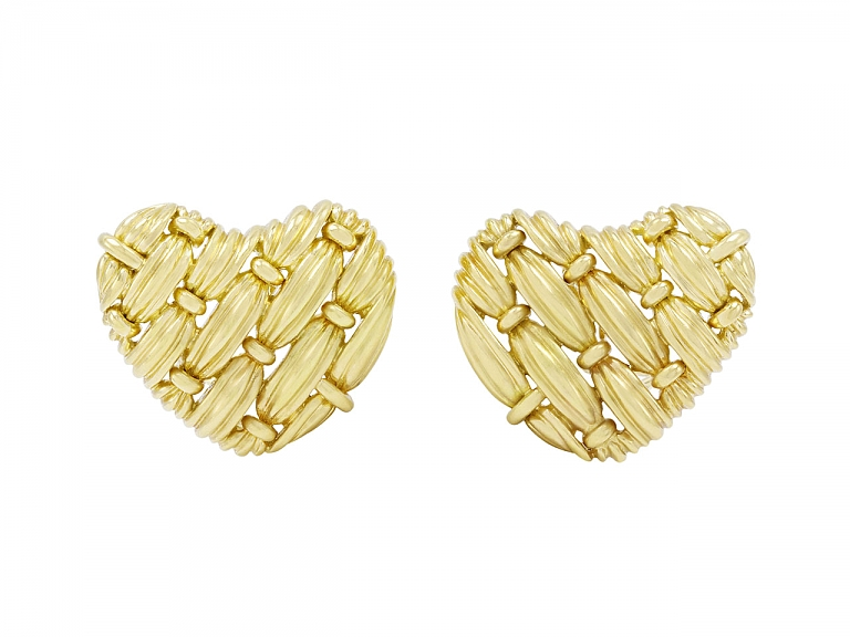 Video of Tiffany & Co. Signature Series 'Woven Heart' Earrings in 18K