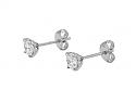 Beladora 'Bespoke' Diamond Stud Earrings, 1.12 total carats, in Platinum