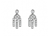 Tiffany & Co. 'Legacy' Diamond Dangle Earrings in Platinum