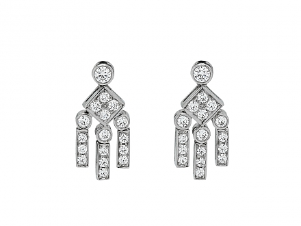 Tiffany & Co. 'Legacy' Diamond Dangle Earrings in Platinum