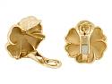 Chanel Camellia Pearl Earrings in 18K Gold