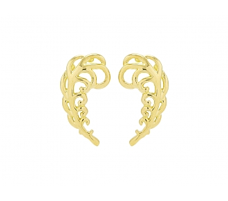 Tiffany & Co. Paloma Picasso Leaf Earrings in 18K Gold