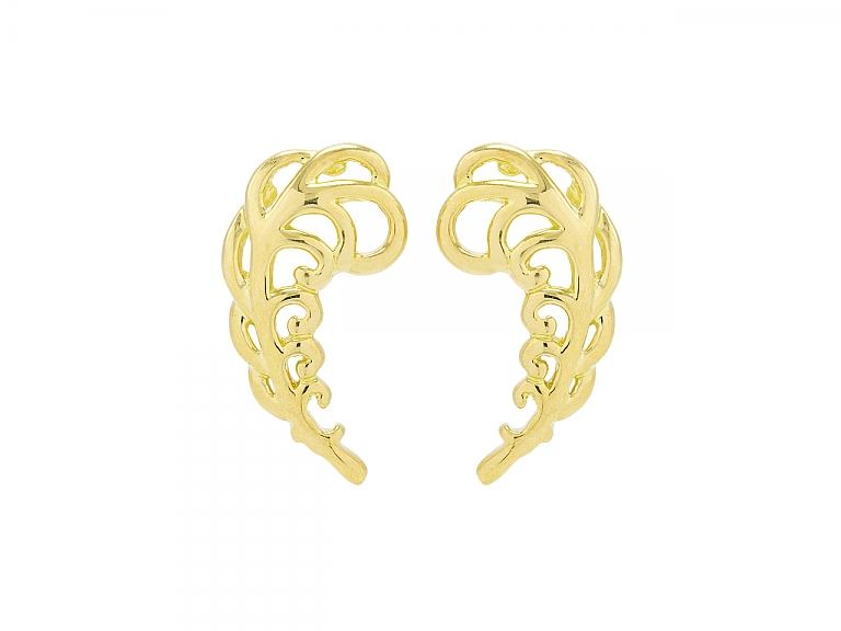 Video of Tiffany & Co. Paloma Picasso Leaf Earrings in 18K Gold