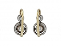 Antique Victorian Old Mine-cut Diamond Earrings in Silver and 14K