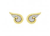 Diamond Wing Earrings in 18K