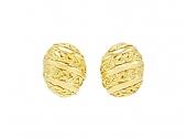 David Webb 'Vine' Earrings in 18K Gold