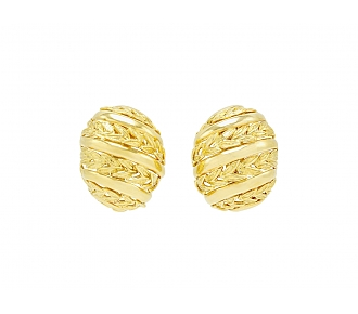 David Webb 'Vine' Earrings in 18K Gold