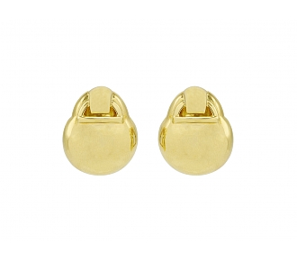David Webb Gold Earrings in 18K Gold