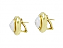 Tiffany & Co. Paloma Picasso Mabe Pearl and Diamond Earrings in 18K Gold