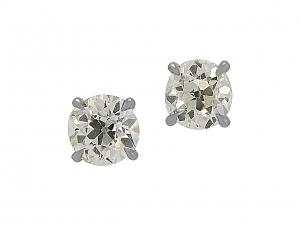 Beladora 'Bespoke' Old-European Cut Diamond Stud Earrings, 2.15 total carats, in Platinum