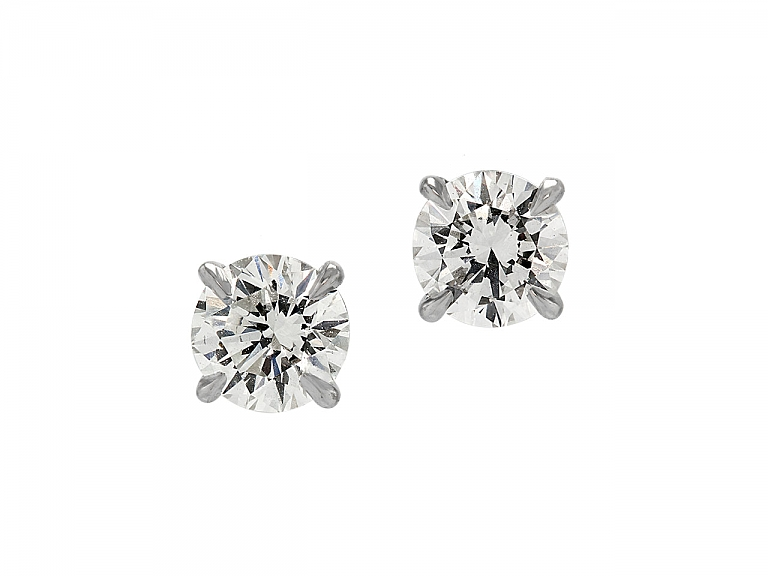 Video of Beladora 'Bespoke' Diamond Stud Earrings, 1.26 total carats, in Platinum