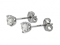 Beladora 'Bespoke' Diamond Stud Earrings, 1.26 total carats, in Platinum