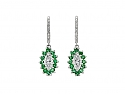 Beladora 'Bespoke' Emerald and Diamond Earrings in Platinum