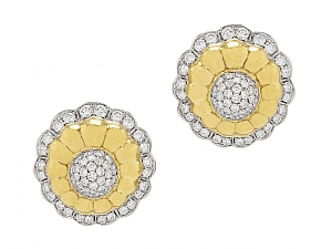 Floral Diamond Earrings in 18K Gold