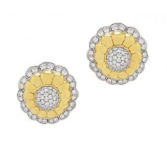 Floral Diamond Earrings in 18K Gold