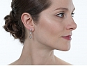 Antique Edwardian Diamond Line Earrings in Platinum over Gold