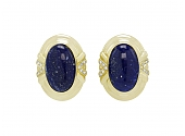Lapis Earrings in 18K Gold