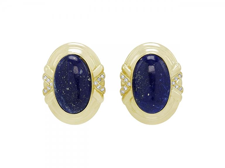 Video of Lapis Earrings in 18K Gold