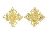 Jean Mahie Ear Clips in 22K Yellow Gold