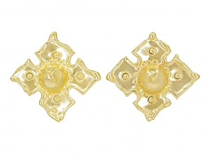 Jean Mahie Ear Clips in 22K Yellow Gold