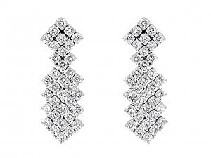 Hammerman Brothers Diamond Dangle Earrings in Platinum