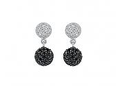 Rhonda Faber Green 'Mini Diamond Dot' Earrings in 18K White Gold