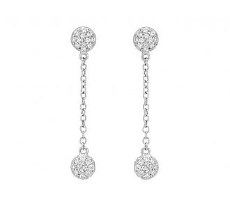 Rhonda Faber Green 'Diamond Dot' Dangle Earrings in 18K White Gold