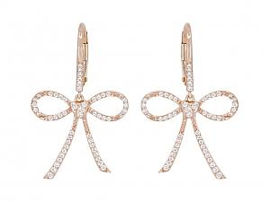 Rhonda Faber Green Diamond 'Bow & Heart' Earrings in 18K Rose Gold