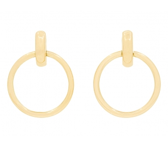 Vintage Door Knocker Earrings in 18K Yellow Gold