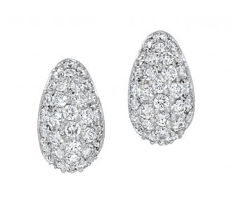Tallarico Diamond Earrings in 18K White Gold