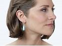 Beladora 'Bespoke' Turquoise and Diamond Dangle Earrings in 18K Gold