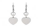 Chopard 'Happy Hearts' Diamond Earrings in 18K White Gold