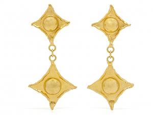 Jean Mahie Dangle Earrings in 22K Gold
